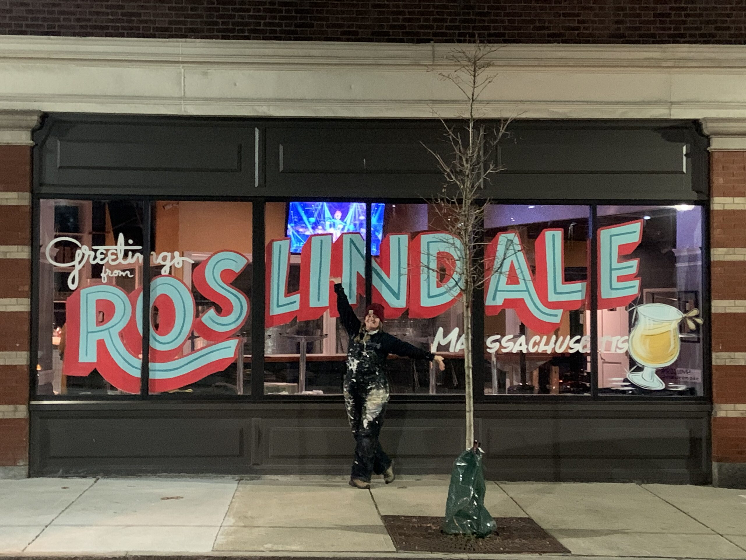 Greetings from Roslindale image in front of Distraction Brewing